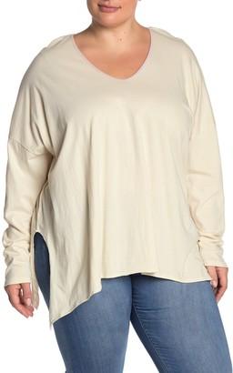 Modern Designer Solid Long Sleeve T-Shirt (Plus Size)
