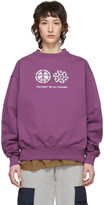 Rassvet Purple Reflective Logo Sweatshirt