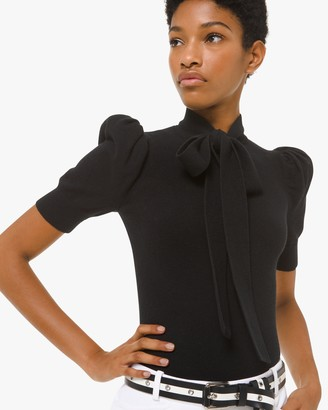 Michael Kors Collection Puff Sleeve Blouse