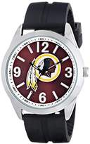 Game Time Men's NFL-VAR-WAS Varsity Analog Display Japanese Quartz Black Watch