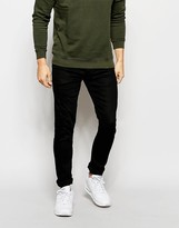 Jack and Jones Coated Black Slim Jeans