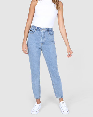 BY.DYLN - Women's Blue Mom Jeans - Harlow Mom Jeans - Size One Size, XS at The Iconic
