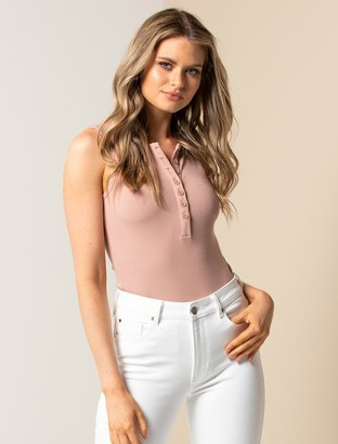 Forever New Lenay Button-Front Tank - Nude/Pink - l