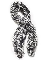 Stripe-print scarf