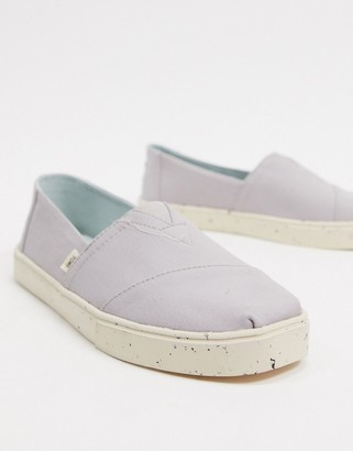 Toms cupsol plimsolls in gray canvas