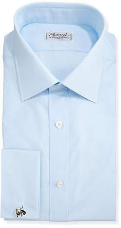 Charvet Poplin French-Cuff Shirt