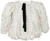 Giambattista Valli sheer embroidered blouse