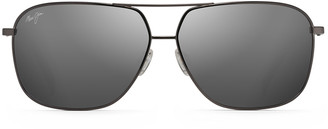 Maui Jim Men's Kami Polarized Metal Aviator Sunglasses