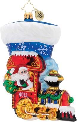 Christopher Radko Noel Express Stocking Ornament