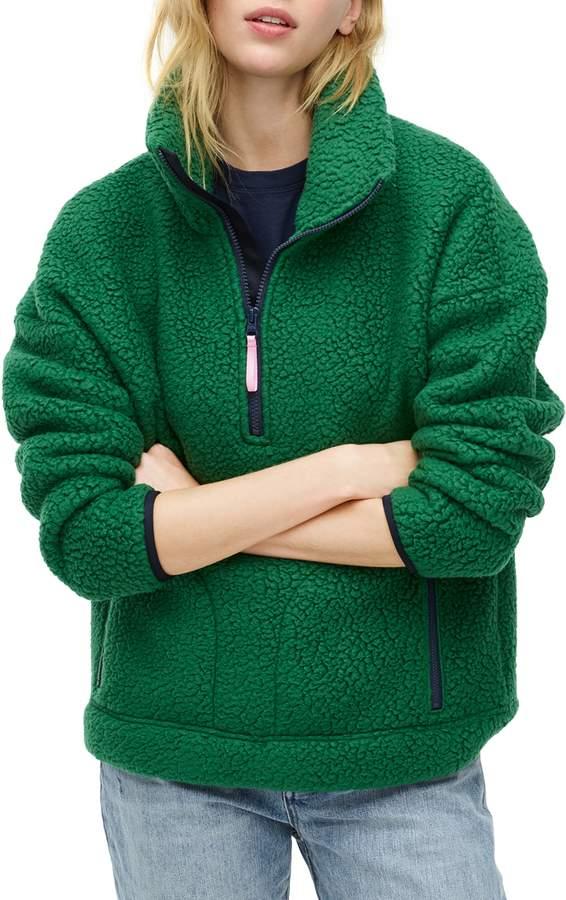 J.Crew Polartec® Fleece Half-Zip Pullover Jacket