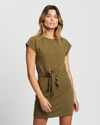 Atmos & Here Atmos&Here - Women's Green Mini Dresses - Valentina Mini Dress - Size 12 at The Iconic