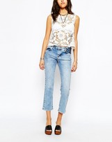 Pull&Bear Light Wash Cropped Jeans