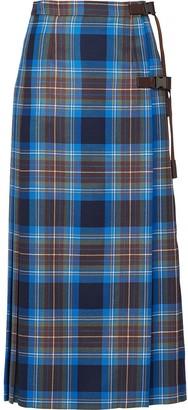 Prada Plaid Pleated Skirt