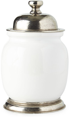 Neiman Marcus Small Ceramic & Pewter Canister