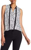Adrianna Papell Sleeveless Tie-Neck Lace Blouse