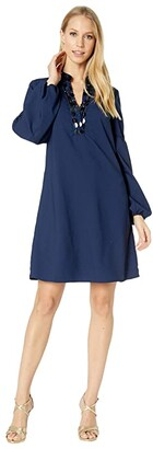 Lilly Pulitzer Shea Stretch Dress (True Navy) Women's Clothing