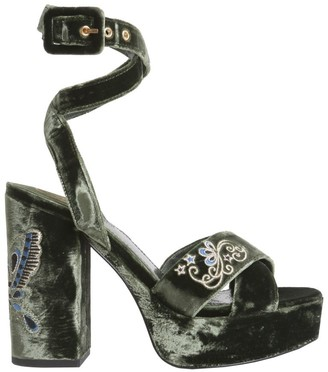Ash Butterfly Strap Flowery Sandals