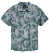 RVCA Men's Tie Dye Check Shirt