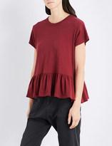 The Great Ruffled-hem cotton T-shirt
