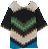 Missoni Metallic crochet-knit tunic