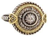 Judith Ripka Two-Tone Diamond Round Cocktail Ring