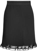 Carven Pleated Crepe Mini Skirt