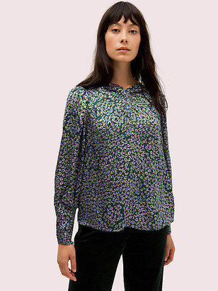 Kate Spade Flair Flora Devore Top
