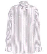 Balenciaga Star Striped Silk Blend Shirt