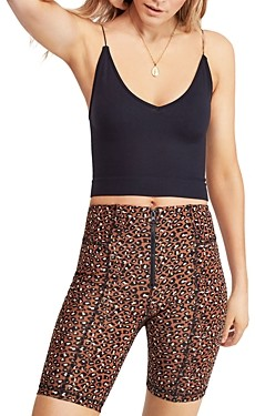 Free People Ribbed Detail Cropped Top