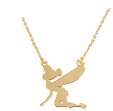 Disney Gold Plated Tinkerbell Silhouette Necklace