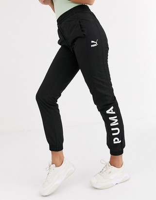 Puma Logo Track Joggers Black