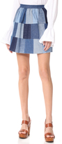 RED Valentino Patchwork Denim Skirt