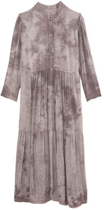 Raquel Allegra Twila Dress in Silver Tie Dye