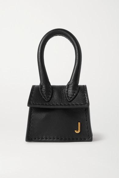 Jacquemus Le Chiquito Micro Textured-leather Tote - Black