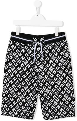 Givenchy Kids TEEN 4G logo print shorts