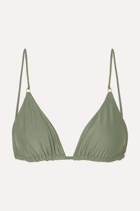 JADE SWIM Lido Triangle Bikini Top - Army green