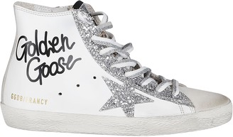 Golden Goose White Leather Fancy Sneakers