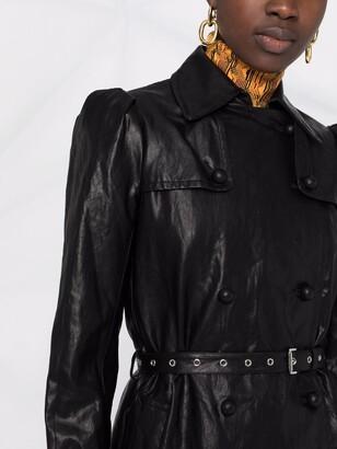 MICHAEL Michael Kors Faux-Leather Puff-Sleeve Coat