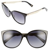 Marc Jacobs Women's 56Mm Gradient Lens Butterfly Sunglasses - Black