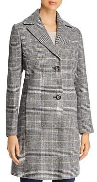 T Tahari Glen Plaid Coat