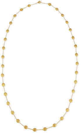 "Marco Bicego Siviglia 18k Gold Long Station Necklace, 36""L"