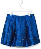 Kenzo 'Eye' pleated skirt - kids - Polyester/Acetate/Viscose - 14 yrs