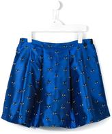 Kenzo 'Eye' pleated skirt - kids - Polyester/Viscose/Acetate - 14 yrs