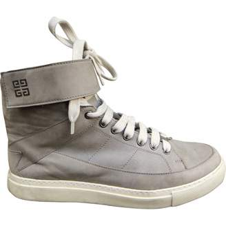 Givenchy Grey Leather Trainers