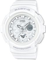 Baby-G Studded Dial White Strap Watch