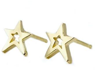 Litzi Star Earrings Gold