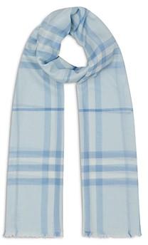 Burberry Women's Lightweight Check Wool & Silk Scarf