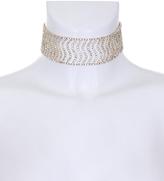AX Paris Gold and Silver Diamante Wave Choker