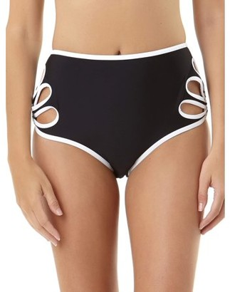 No Boundaries Juniors' Cutout Highwaist Bikini Bottom