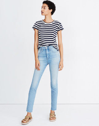 "Madewell Rivet & Thread 11"" High-Rise Skinny Jeans in Gordon Wash"